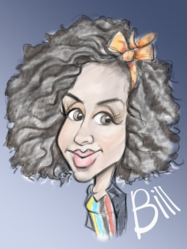 pearl mackie doctor who famous face caricature drawing