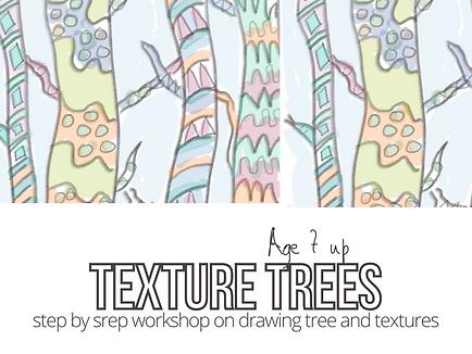 texture tree drawing workshop