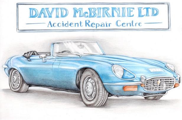 Colour pencil realistic car illustration   picky pencil editorial artist