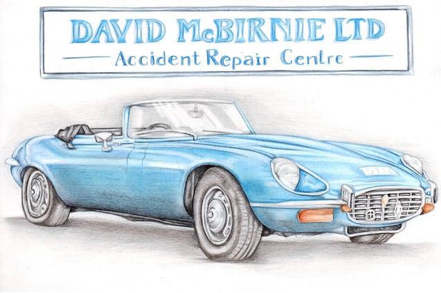 Colour pencil realistic car illustration | picky pencil editorial artist