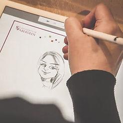 lyn elrick ipad artist caricaturist wedding entertainent