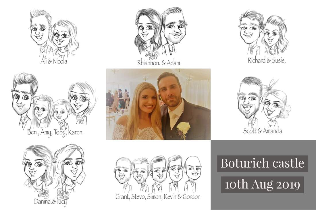 Boturich castle wedding artist