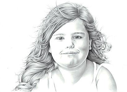 photo realistic graphite portrait drawing