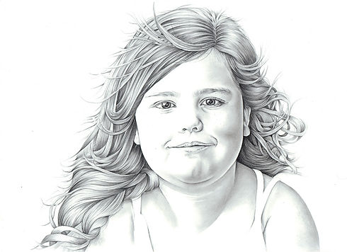 lyn elrick illustrations | graphite pencil portrait | aberdeenshire