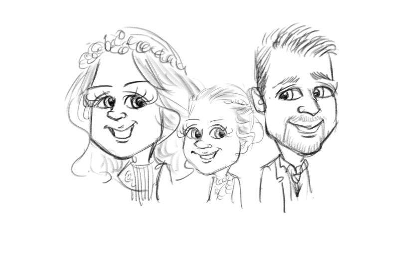 picky pencil ipad artist wedding enterta
