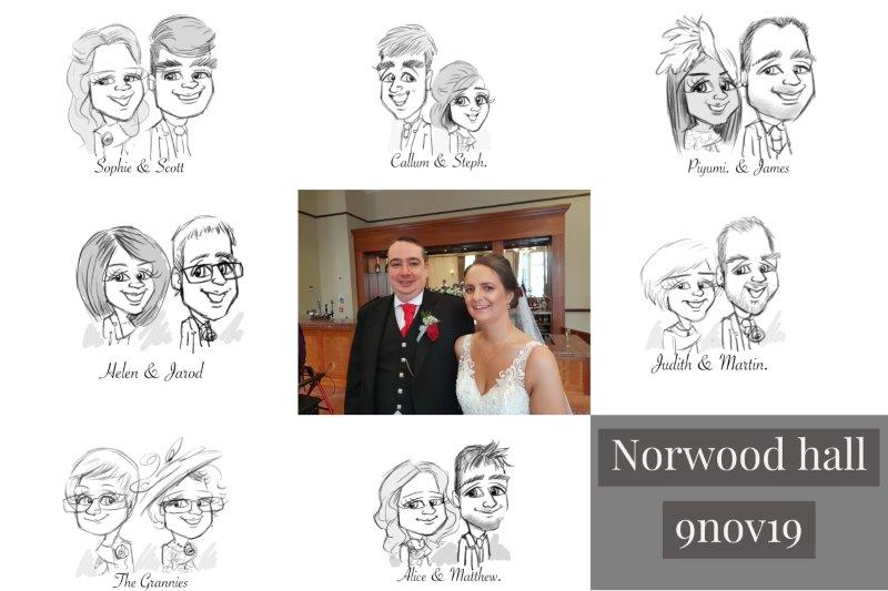 Norwood Hall wedding artist
