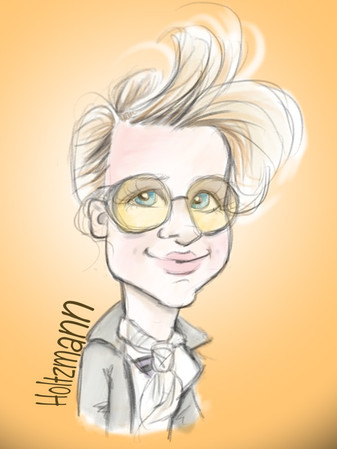 Gillian holtzmann ghostbusters ipad caricature famous face