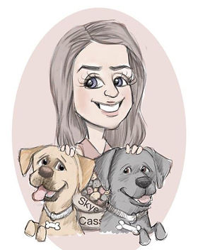 picky pencil family dog cartoon portrait
