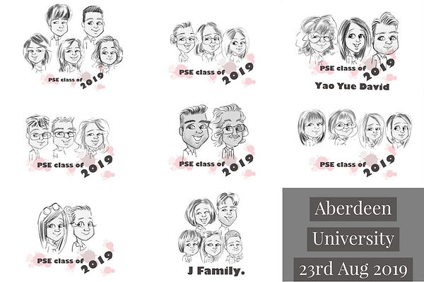 latest corporate event entertainment aberdeen university caricatures for students