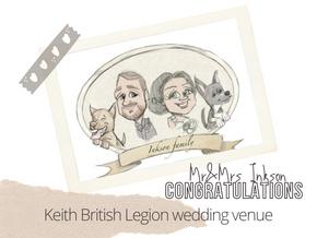 Artist@your wedding   British Legion Keith   31st July 2021