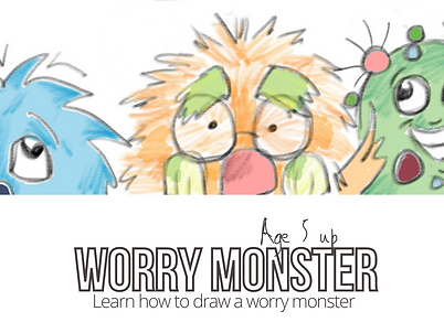 draw a worry monster workshop