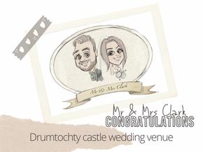 Artist@your wedding  Drumtochty Castle  7th August 21