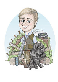 Man and his dog Personalised gift   Picky Pencil Caricatures