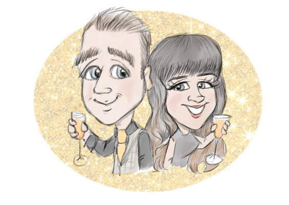 celebration caricature drawing from photo | picky pencil caricature
