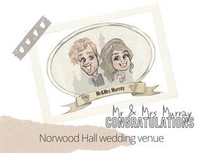 Artist @ your wedding  Norwood Hall  5th September 2021