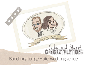 Artist@your wedding   Banchory Lodge Hotel  5th August 21