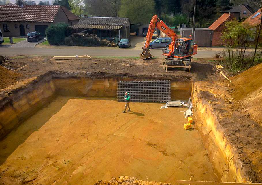 Uitgraven van kelder
