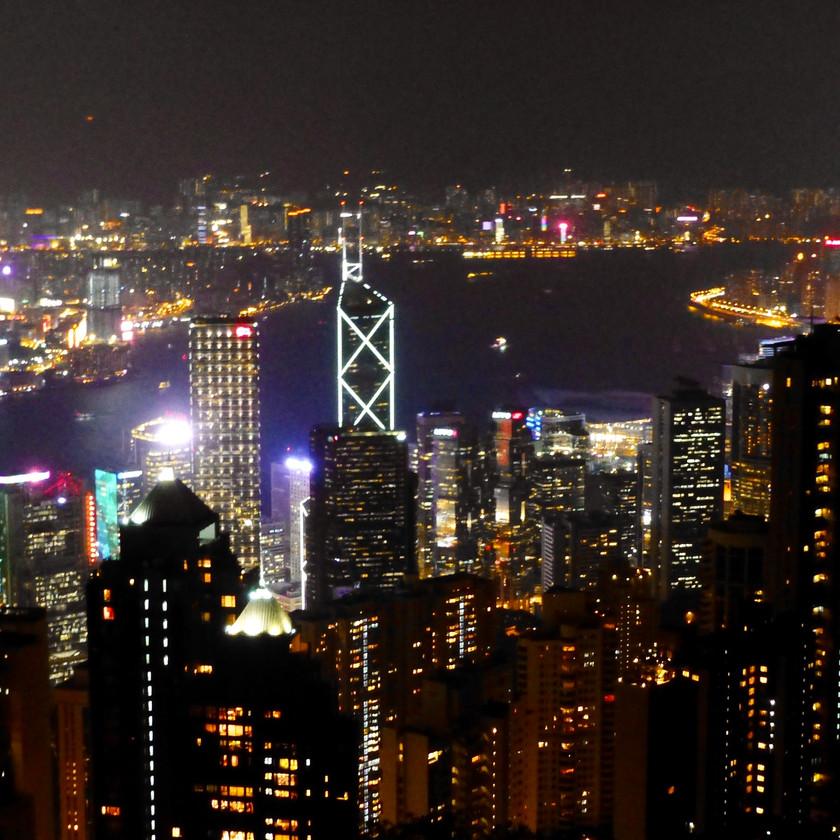 Blick auf die Stadt vom Peak