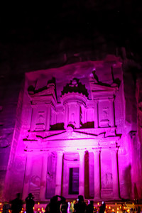 Khazne al-Firaun by Night