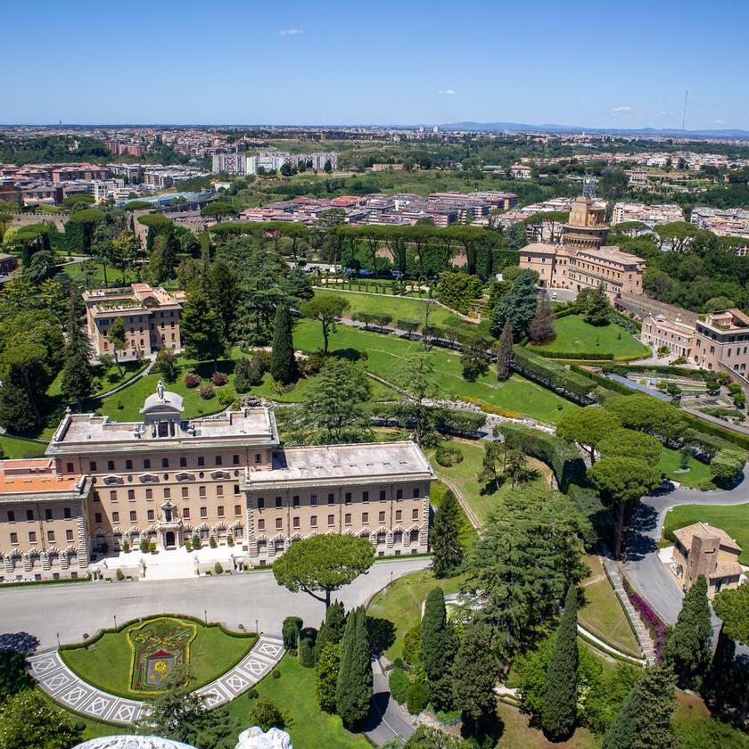 Vatikanische Gärten von Oben