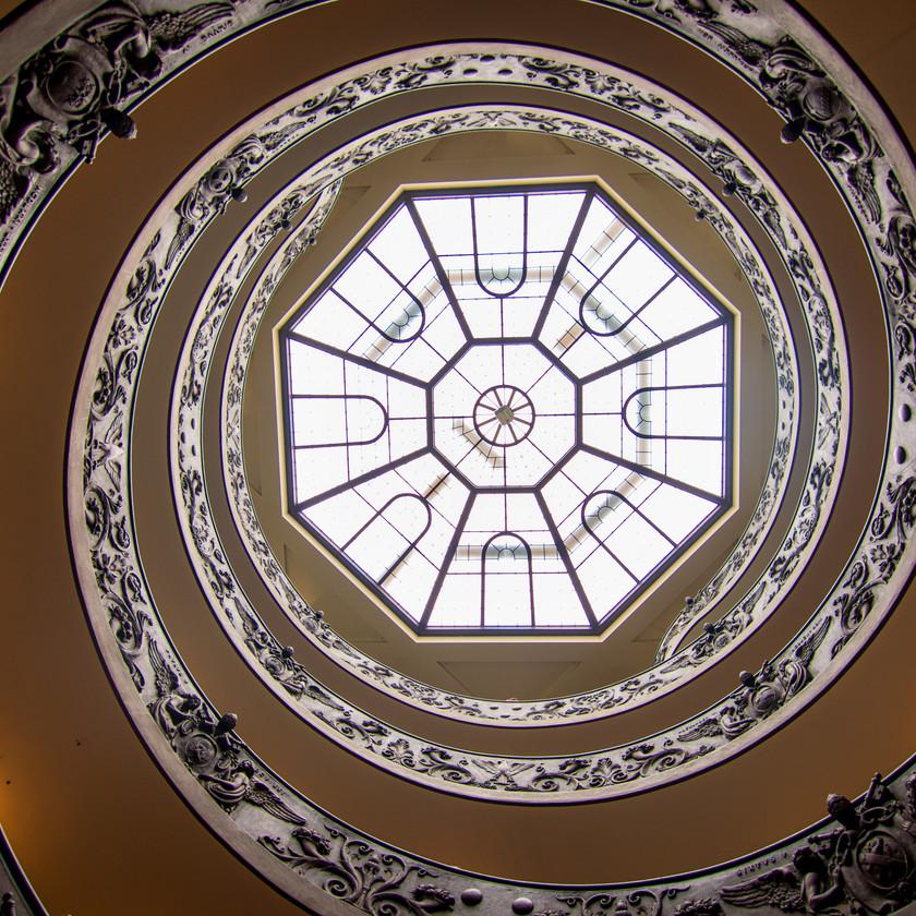 Treppe am Ausgang