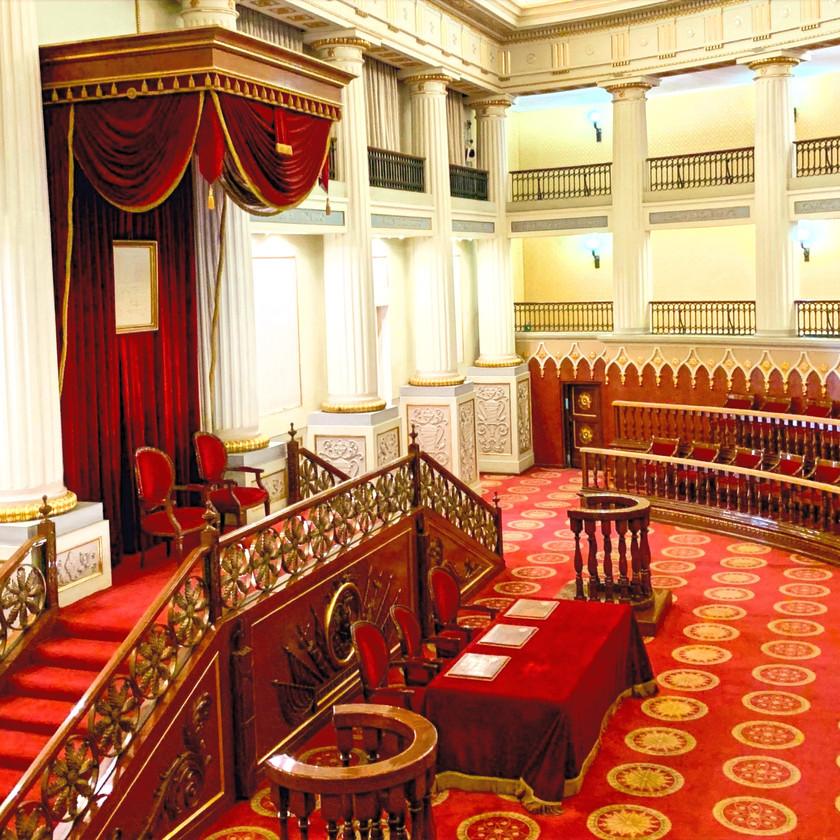 Sitzungssaal der Regierung