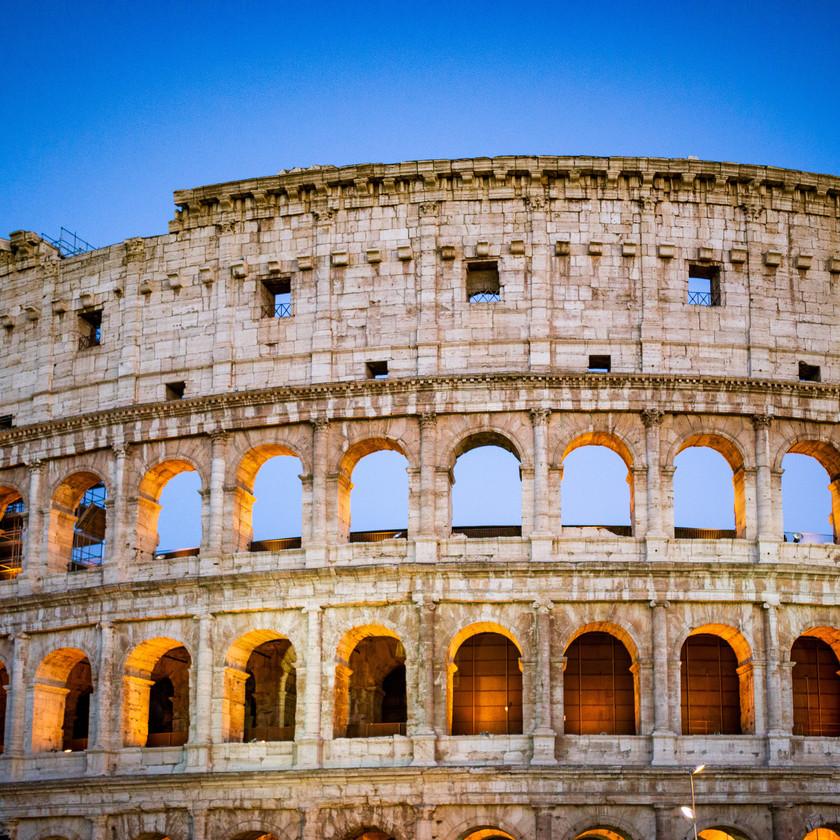 Kolosseum zum Sonnenuntergang