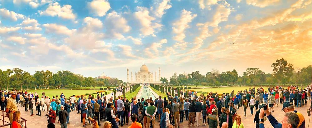 Erster Blick auf's Taj Mahal