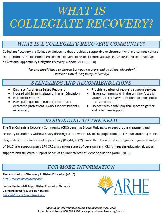 Collegiate Recovery Communities