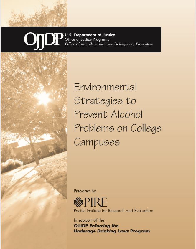 Environmental Strategies to Prevent Alcohol Misuse on College Campus'