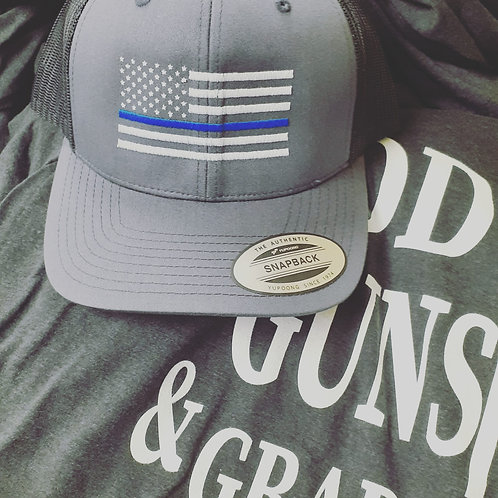 Blue Line Support Hat