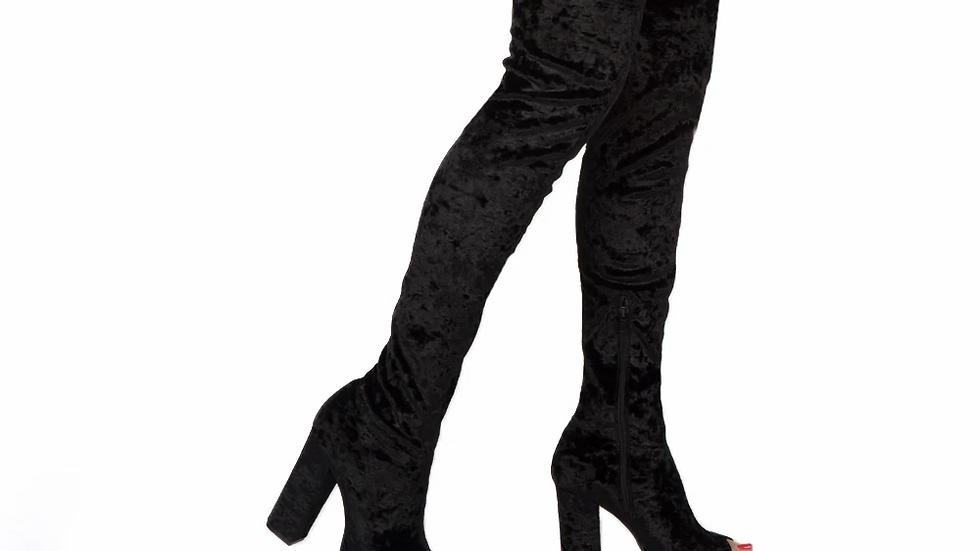 Crush Velvet Boots