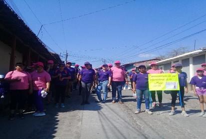 Caminata por la no violencia contra la mujer, municipio de Guazapa
