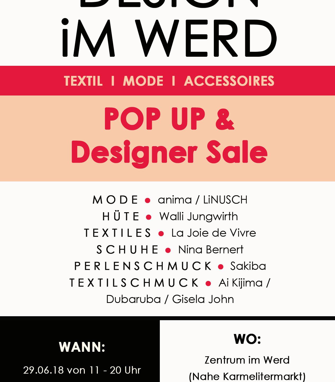 POP UP & Designer Sale Info