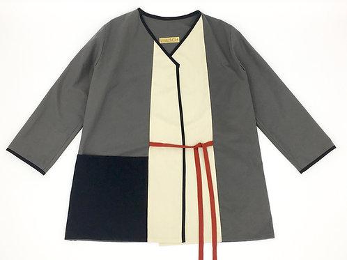 Kimonojacke Grau