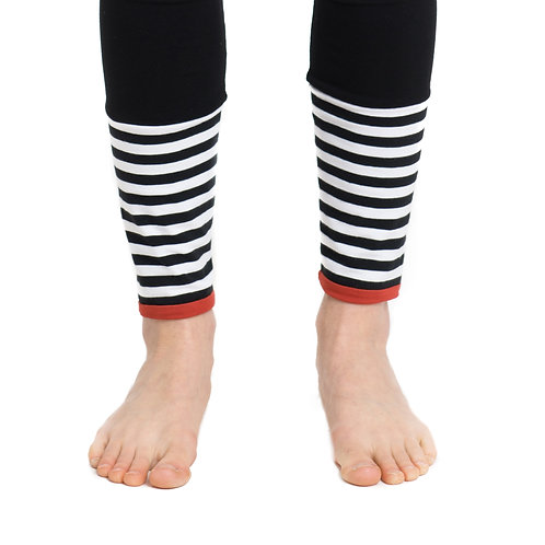 Leggings Schwarz mit Streifen