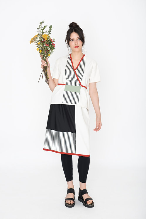 Kimonotop Weiß
