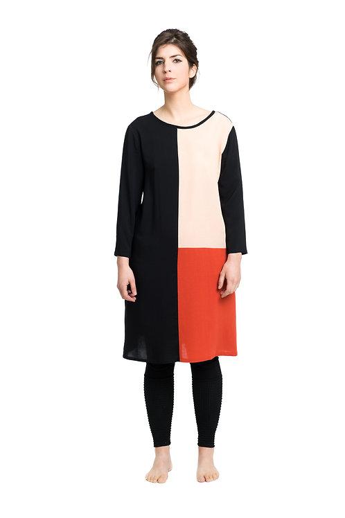 Kleid : TRICOLORE Koralle