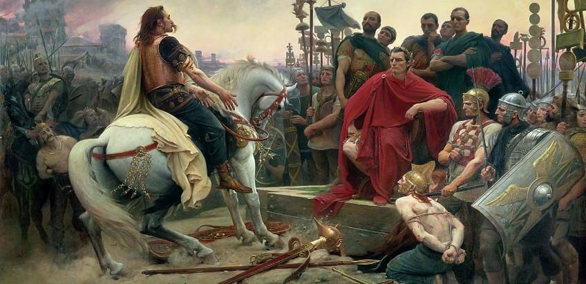 Caesar en zijn strijd tegen de Atuatuci en Vercingetorix