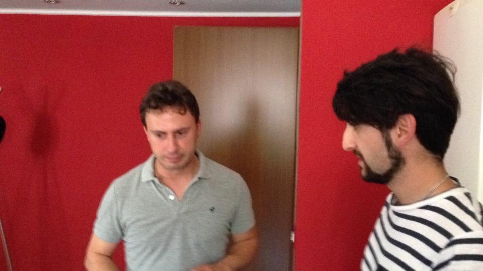 Stefano perplesso e Sebastiano
