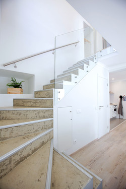 stairs to privated rooms