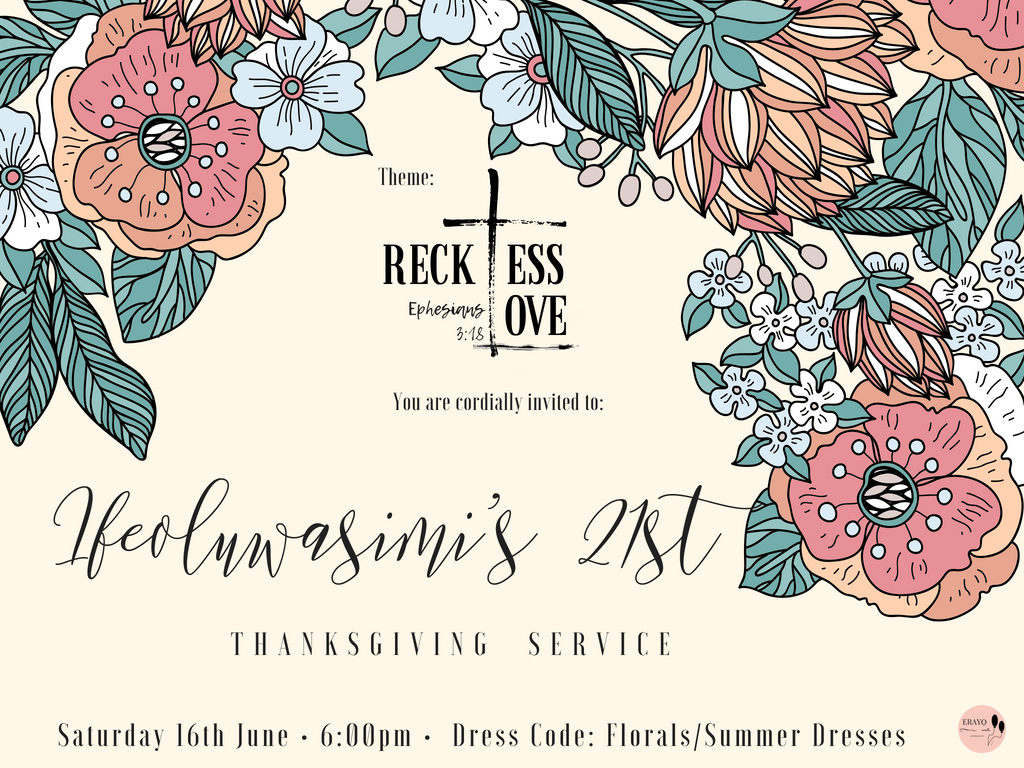 Reckless Love - Ife's 21st