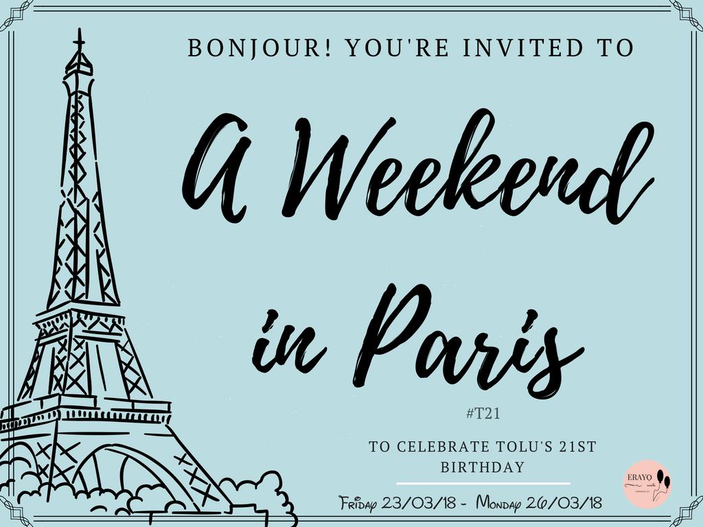 #T21: A Weekend In Paris