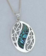 Rei Jewellery -NZ Paua/Silver - Mermaid's Dream - Pendant & Silver Chain 3087bx - NZ Abalone Jewelry