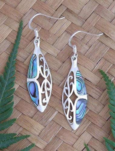 """""""Dreams""""Sterling Silver-Paua Earrings 2172bx"""