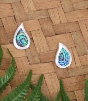 Sterling Silver NZ Paua Stud Earring 2413bx