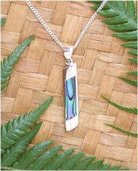 Simply Gift NZ Paua Shell Sterling Silver Pendant  3075bx