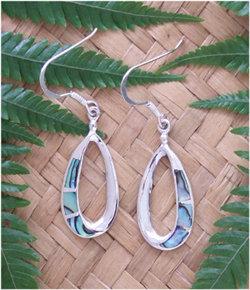 Simply NZ Jewellery Sterling Silver Paua Earrings 2284bx