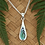 Thumbnail: Beautiful Simply Sterling Silver Paua Earring & Pendant  Set3084