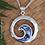 "Thumbnail: "" NZ Yin-Yang"" NZ Paua Shell Sterling Silver Pendant  3074"